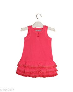Frocks  Baby Alluring Cotton Knitted Girl's Frock  *Fabric* Cotton Knitted  *Sleeves* Sleeves Are Not Included SizeAge Group (3 Months - 6 Months) - 12 in Age Group (9 Months - 12 Months) - 14 in Age Group (12 Months - 18 Months) - 16 in Age Group (18 Months - 24 Months) - 18 in Age Group (2 - 3 Years) - 20 in  *Type* Stitched  *Description* It Has 2 Pieces Of  Girl's Frocks  *Pattern * Solid  *Sizes Available* 2-3 Years, 3-6 Months, 9-12 Months, 12-18 Months, 18-24 Months *   Catalog Rating: ★4.3 (171)  Catalog Name: Super Baby Alluring Cotton Knitted Girl's Frocks Vol 1 CatalogID_127678 C62-SC1144 Code: 112-1049917-
