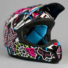 Fox helmet - love it! so colorful