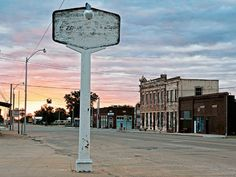 8 Beautifully Haunting Pictures of Route 66 Ghost Towns - Erick, Oklahoma - Photo by Kerrick James  Read more: http://www.rd.com/slideshows/ghost-town-pictures/#ixzz34GxF7nk2