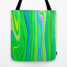 Twiggy Stripes cv2 Tote Bag by Paul Ashby - $22.00