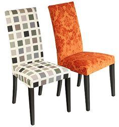 Upholstered orange chair