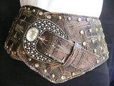 New-Women-Mocha-Brown-Faux-Leather-Wide-Western-Fashion-Belt-Big-Buckle-S-M-L-XL