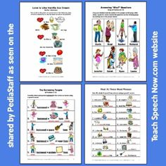 Over 50 colorful worksheets full of articulation, following directions and concept exercises in PDF format on Teach Speech Now.com (select their Free Downloads page). Many of these exercises are multipage.  Lots of good free stuff!  - - click on pin for more!    - Like our instagram posts?  Please follow us there at instagram.com/pediastaff