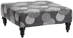 Mum Blue-Gray Upholstered Ottoman | 55DowningStreet.com saled ends 7/17/2013