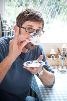 Louis Theroux. Gonzo style journalist with a playful sense of humour and a charming demeanour that never fails to provoke his subjects to open up to him. I have just been watching the Weird Weekends series for the first time.