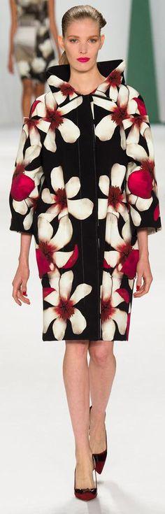 Carolina Herrera Spring 2015 Ready-to-Wear floral fashion