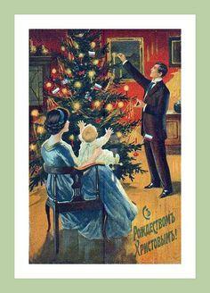 Vintage Christmas - Russian Christmas Tree