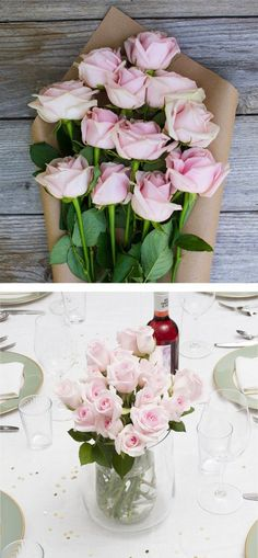 Beautiful California grown flowers from The Bouqs. Perfect for a dinner party centerpiece.