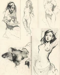 "14.6k Likes, 29 Comments - ART|PEACE (@arts_gate) on Instagram: ""Sketches by Jeremy Mann !  . . . . . . . #arts_gate @watercolor_arte """