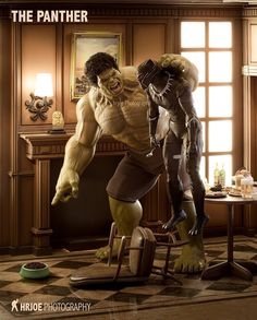 Hulk 's Pet is Black Panther Bd Comics, Marvel Dc Comics, Marvel Heroes, Captain Marvel, Funny Comics, Thor Marvel, Marvel Jokes, Marvel Funny, Heroes United
