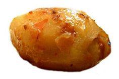 Patatas rellenas de carne en salsa de tuétano