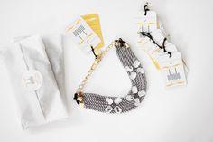 ● Collar hecho en cordón de seda | Modelo Sylvie gris metalizado | Diseños OLVIDO MADRID | www.olvidomadrid.es