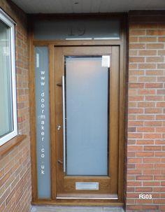Image result for oak door narrow glazed