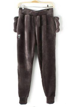 Animal Ear Furry Pants - OASAP.com