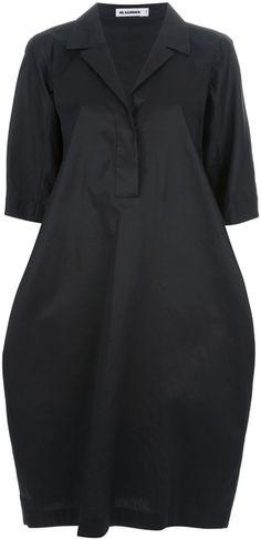Twill Cocoon Dress | jil sander : Minimal + Classic