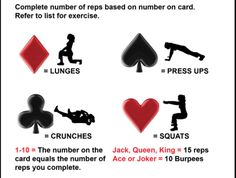 Try this card game workout! Can you get through a whole 52 deck?? #Workout #30DFC #Cards #TrySomethingNew