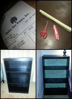 Dollar Tree DIY Bookshelf ....(bookshelf from Ikea)