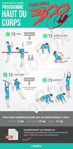 Programme pour le haut du corps au poids du corps