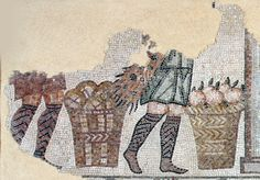 Ancient mosaic in Rimini (Italy)
