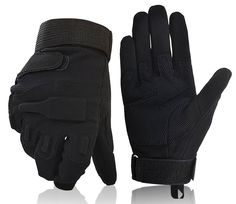 Unisex Motorcycle Gloves, Black