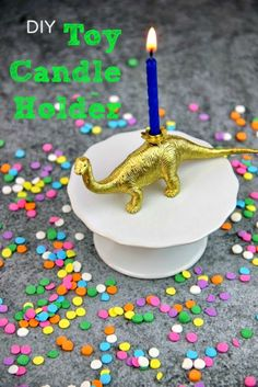 DIY Toy Candle Holder