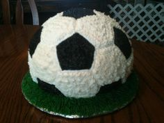 3-D Soccer Ball Cake made by momma @Susie Ward