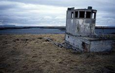 Remains of a fishing boat, Flatey, Breiðafjörður, Iceland