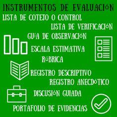 Interesante guía sobre instrumentos de evaluación en el marco de una programación por competencias