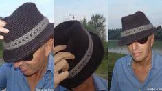 Sara nel mondo del crochet: cappello panama all'uncinetto di lana