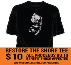 restore the shore tees & hoodies - all proceeds go to benefit those affected #globaltech #globaltechnj #restoretheshore www.globaltechnj.com/restore