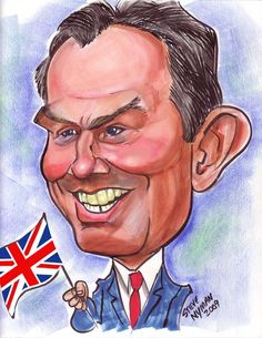 Tony Blair  (caricature)  ROYALTY - http://dunway.us