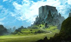 Cubic Mountains, Felipe Fornitani on ArtStation at https://www.artstation.com/artwork/zmbxm