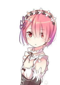 re zero ram Light Novel, Subaru, Ram And Rem, Re Zero Rem, Cute Anime Pics, Animal Ears, Kawaii Cute, Anime Manga, Game Art