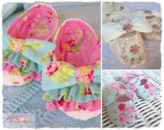 Newborn and Babies Slippers Pattern by Debby. These lovely soft little slippers are just right for babies first year. They have hidden