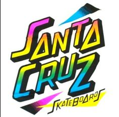 Day glow santa cruz 80's logo