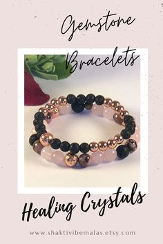 Rose Quartz jewelry, Diffuser bracelet with lava stones, Rose Quartz and Rhodonite healing crystals, gemstone bracelet Rose Quartz Bracelet, Quartz Jewelry, Stone Bracelet, Aromatherapy Jewelry, Diffuser Jewelry, Healing Crystals, Bracelet Sizes, Crystal Bracelets, Lava
