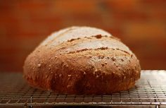 "three secrets to great whole grain bread: ""the food processor, the overnight rise and the sourdough starter."""