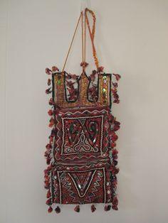 Lovely India hand made embellished envelope bag, wall hanging