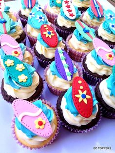 12 Surfboards Cake/Cookie and Cupcake Toppers $16.99