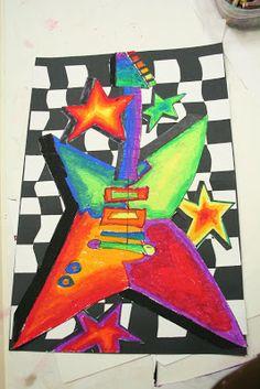 """smART Class: """"Art Rocks"""" Guitars -very cool!"""