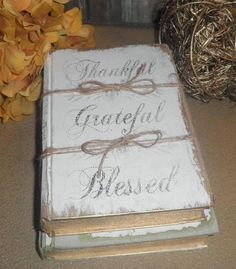 Items similar to Book Set 3 Painted White Books,Farmhouse Book Bundle - French Script - Distressed, Old Antique Trunk Latch on Etsy Diy Old Books, Old Book Crafts, Paper Crafts, Book Projects, Diy Projects To Try, Craft Projects, Craft Ideas, Cute Crafts, Crafts To Make