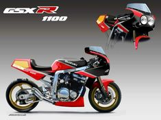 Suzuki Bikes, Suzuki Motorcycle, Kawasaki Motorcycles, Moto Bike, Cafe Racer Motorcycle, Suzuki Gsx, Custom Sport Bikes, Custom Street Bikes, Custom Motorcycles