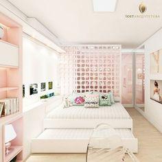 Dormitório da bailarina 🎀 Setorizamos o quarto e o closet através de um painel de MDF perfurado a laser, lindo né ?! 😍😍 . #dormitorio #bedroom #bedroomdecor #bedroomdesign #bedrooms #bedroomideas #bedroominspiration #paraasmeninas #corderosa #meninas #girl #pink #princesa #princess #girls #love #beautiful #photooftheday #fun #smile #pretty #cool #style #sweet #look #luxury #world #job #work #quartorosa