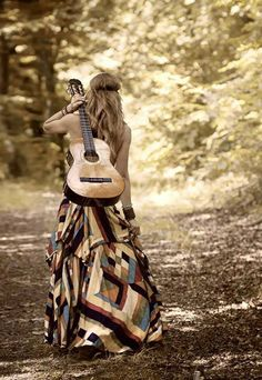 music, hippieboho photo, boho chic, skirt patterns, skirts, peopl pictur, dresses, girl style, guitars
