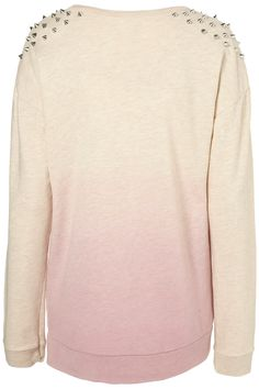 STUD DIP DYE OVERSIZED SWEAT
