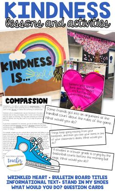 Whether you're celebrating a week-long kindness themed week at your school or . - Real Time - Diet, Exercise, Fitness, Finance You for Healthy articles ideas Positive Behavior Management, Classroom Management, Help Teaching, Teaching Ideas, 2nd Grade Activities, Bulletin Board Letters, Social Skills For Kids, Teacher Resources, Writing Resources