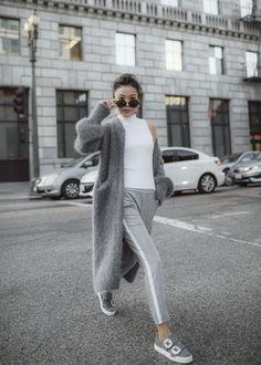 7 Ways to Wear a Fuzzy Long Coat