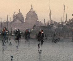 what the heck is art ?: What a bloody marvelous painting, part 10 Watercolor Landscape, Watercolor Sketch, Watercolor Paintings, Watercolours, Urban Landscape, Landscape Art, Landscape Paintings, Joseph Zbukvic, Watercolor Pictures