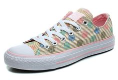 Converse Femmes Multi Color Polka Dotted Stripes Low Tops