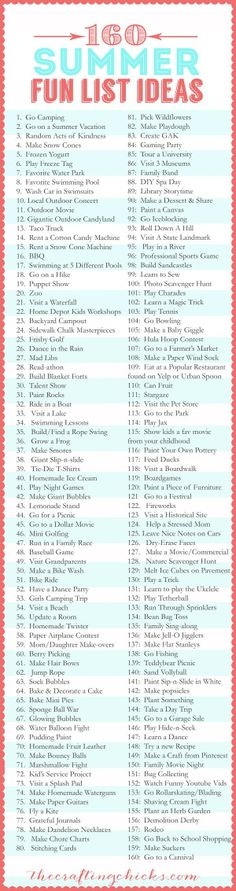 This isn't a summer to do list. This is a brilliant date ideas list!!! :D